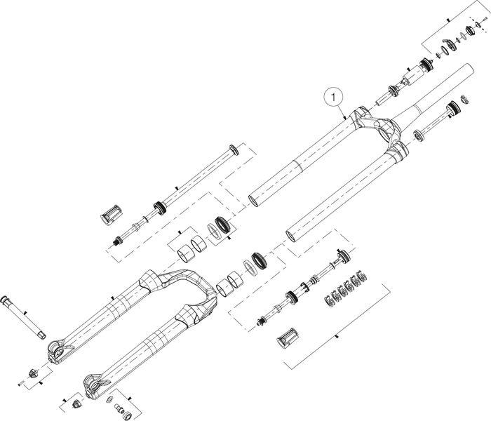 STANDROHREINHEIT MANITOU MATTOC PRO 3 80/100MM 29+ 110 MSW - schwarz - Rad & Dämpferklinik GmbH