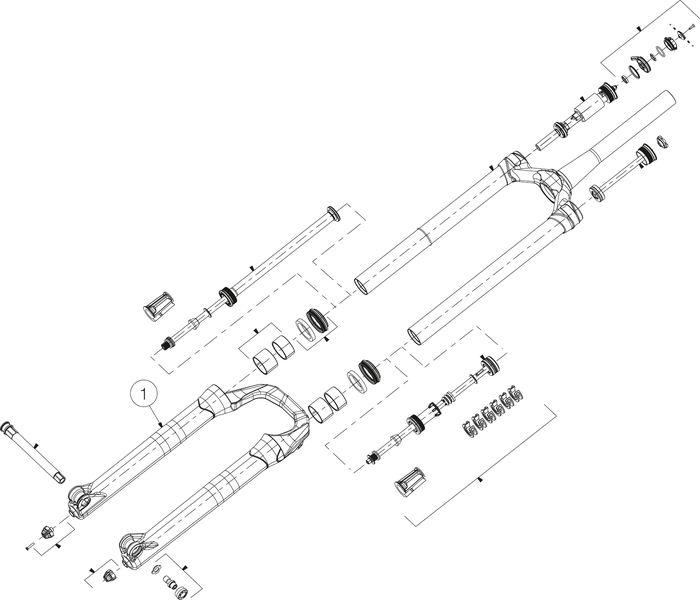 TAUCHROHR MANITOU MATTOC PRO 3 29+ 110 BOOST MSW - schwarz - Rad & Dämpferklinik GmbH