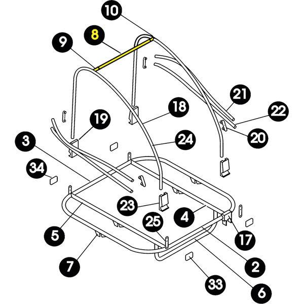 ÃœBERROLLBÃœGEL / QUERSTANGE  KPL.  D´´LITE ENCORE BIS 2003 - silber - radschlag - Fahrradladen Ladengeschäft und Online Shop in Chemnitz - Fahrräder und Fahrradzubehör