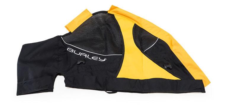 Burley Bespannung ROVER - schwarz/gelb - radschlag - Fahrradladen Ladengeschäft und Online Shop in Chemnitz - Fahrräder und Fahrradzubehör