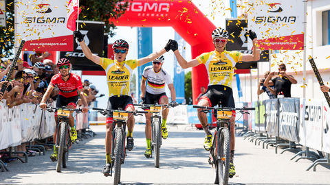 TEAM CENTURION VAUDE makes history at the BIKE Transalp