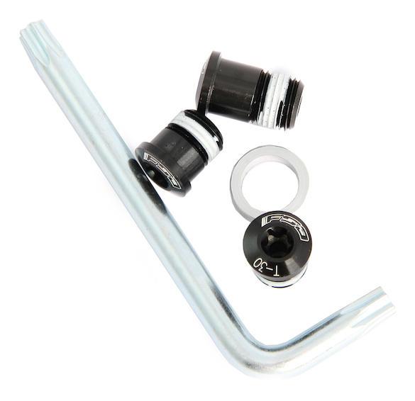 schwarz 12-teilig FSA Kettenblattschraubenset Torx für 4-Arm-Kurbeln