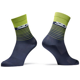 Socken Miami blue/lime