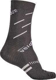 Socken Merinowolle schwarz/grau
