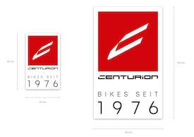 """Aufkleber CENTURION """"Bikes Seit 1976"""""""