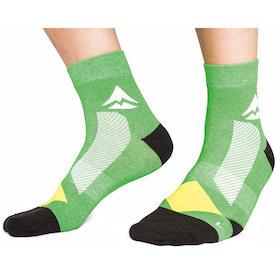 Socken grün/schwarz/gelb