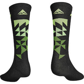 Socken MTB Design Lang schwarz/grün