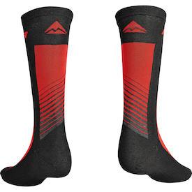 Socken ROAD Design Lang Schwarz/Rot