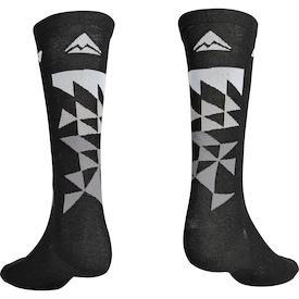 Socken MTB Design Lang Schwarz/Grau