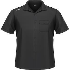 Business-Shirt kurzarm schwarz