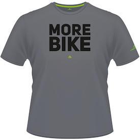 T-Shirt MORE BIKE Edition grau