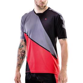 Trikot Freeride Triangle Herren grau/rot