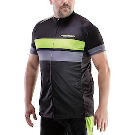 Trikot Active Stripe Herren schwarz/grün