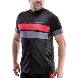 Trikot Active Stripe Herren schwarz/rot