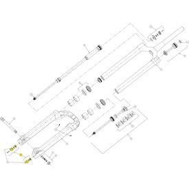 Zugstufeneinstellknopf & Luftkappe für Mezzer Pro