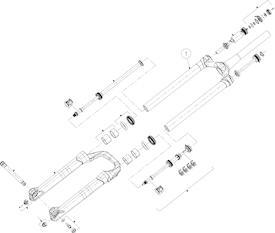 Standtrohreinheit Manitou Mattoc 3 Pro 29+ Boost 120mm schwarz