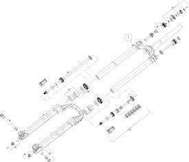 Standrohreinheit Mattoc 3 Pro 80/100mm 29+ Boost
