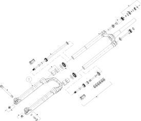 Tauchrohr Mattoc 3 Pro 29+ 110 Boost mattschwarz