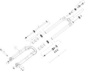 Tauchrohr Mattoc 3 Pro 27.5 Zoll 110mm mattschwarz